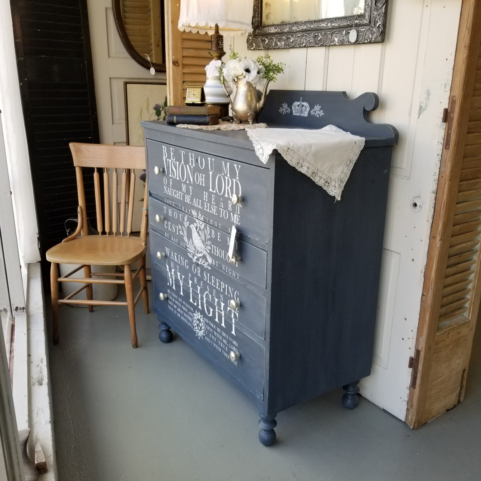 Artissimo 4 Drawer Antique Chest with IOD Transfer