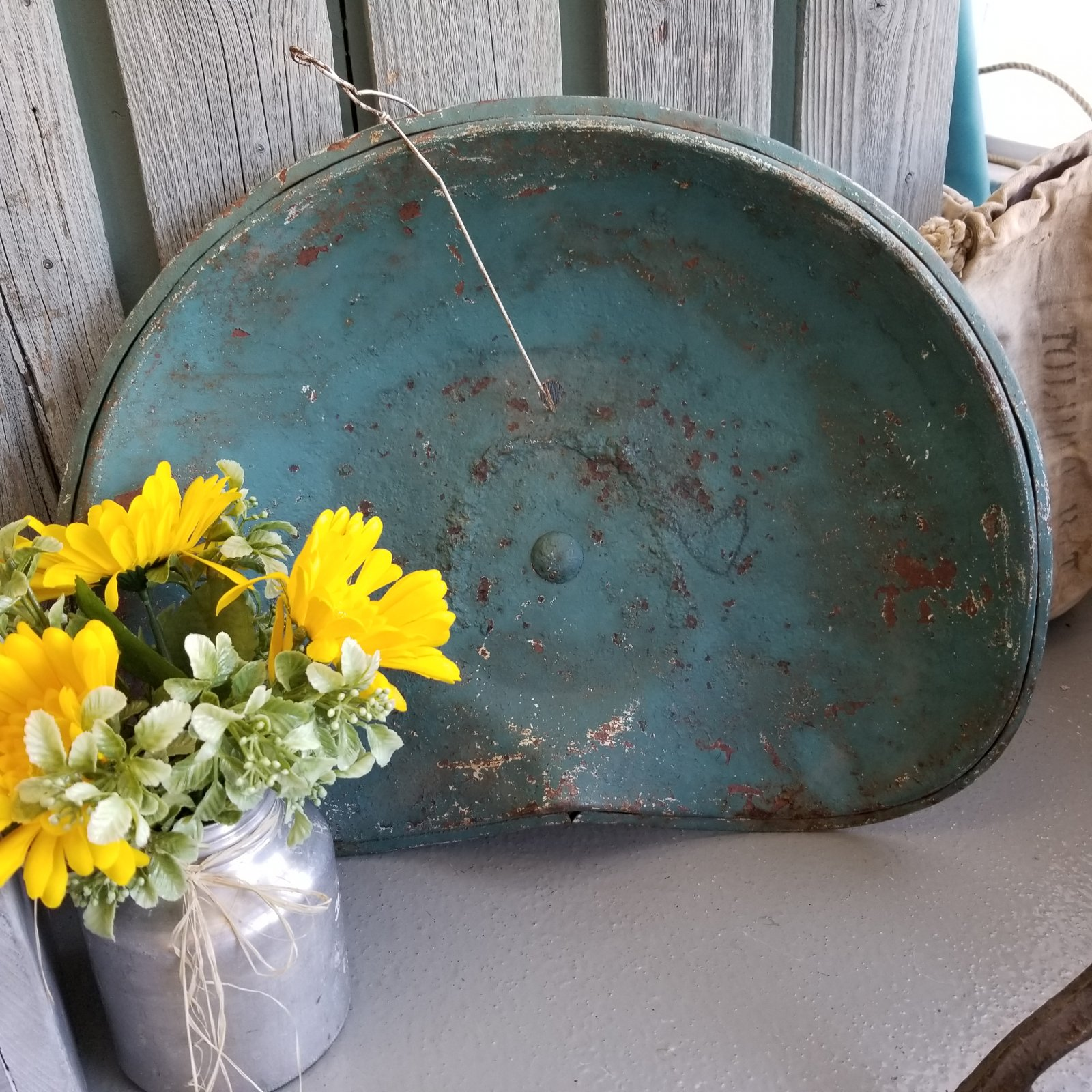 Rusty Blue Tractor Seat