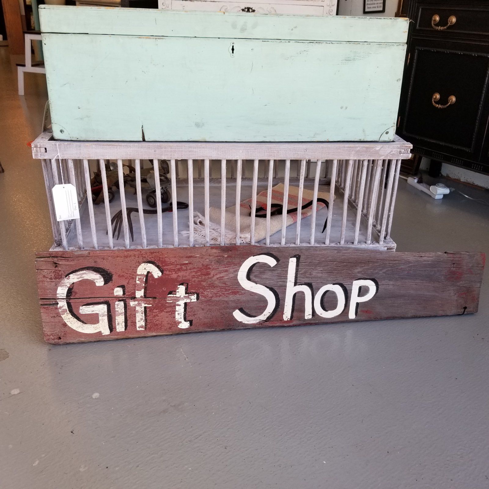 Gift Shop  Sign on old barn wood