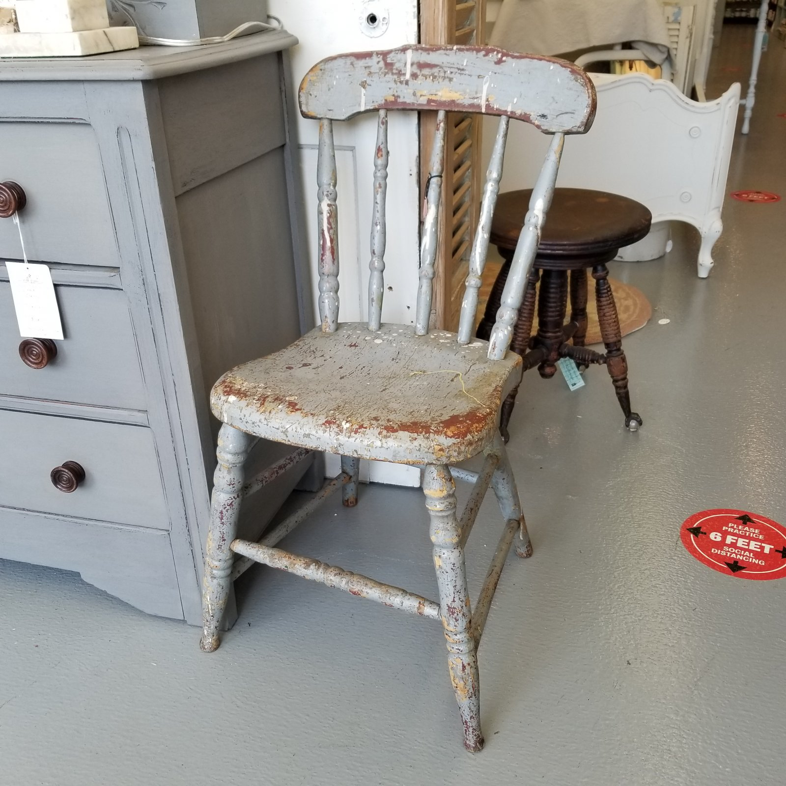 Shabby Grey Chair
