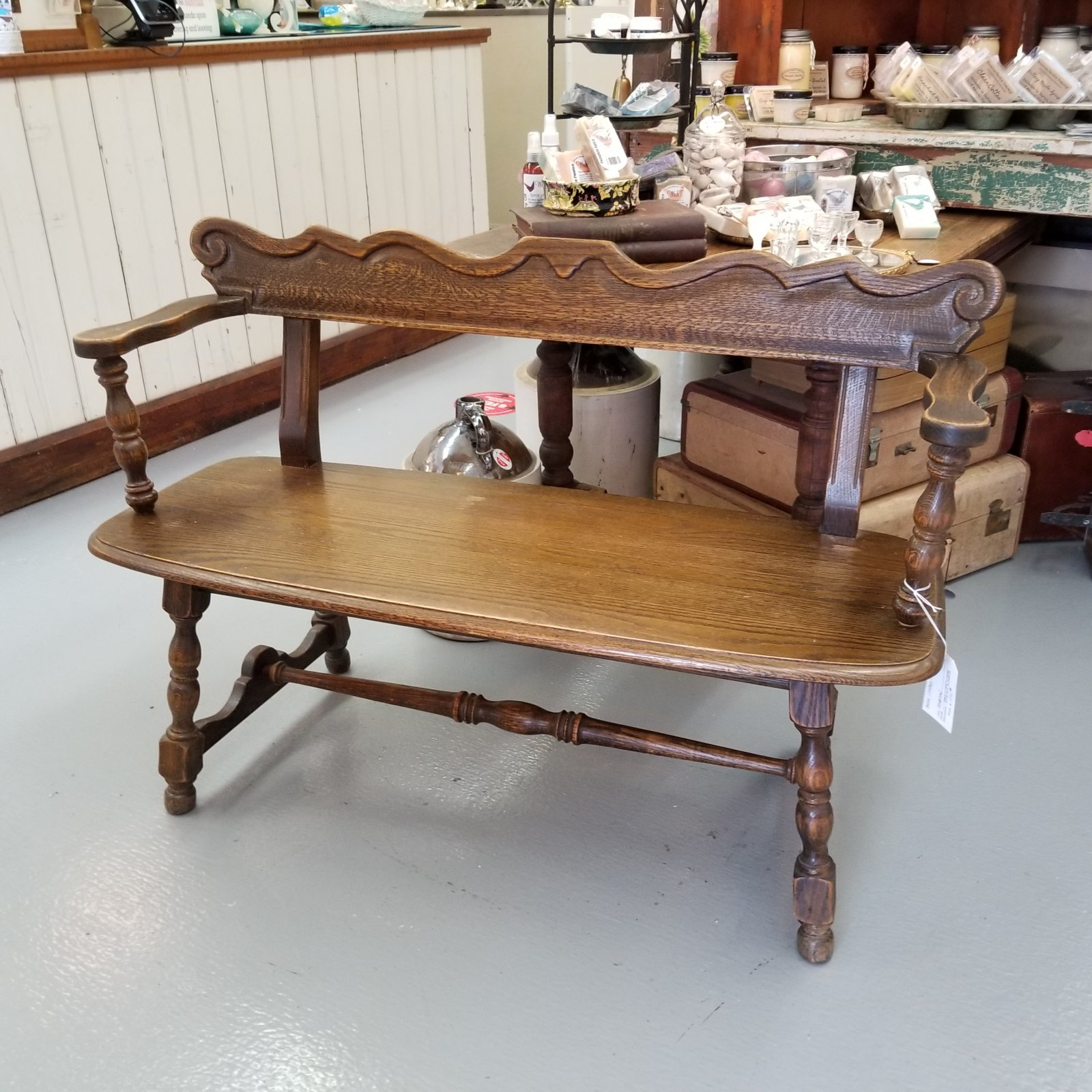 Vintage Oak Bench