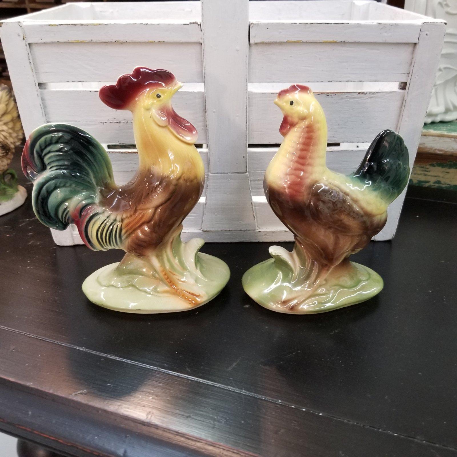Hen & Rooster Figurines