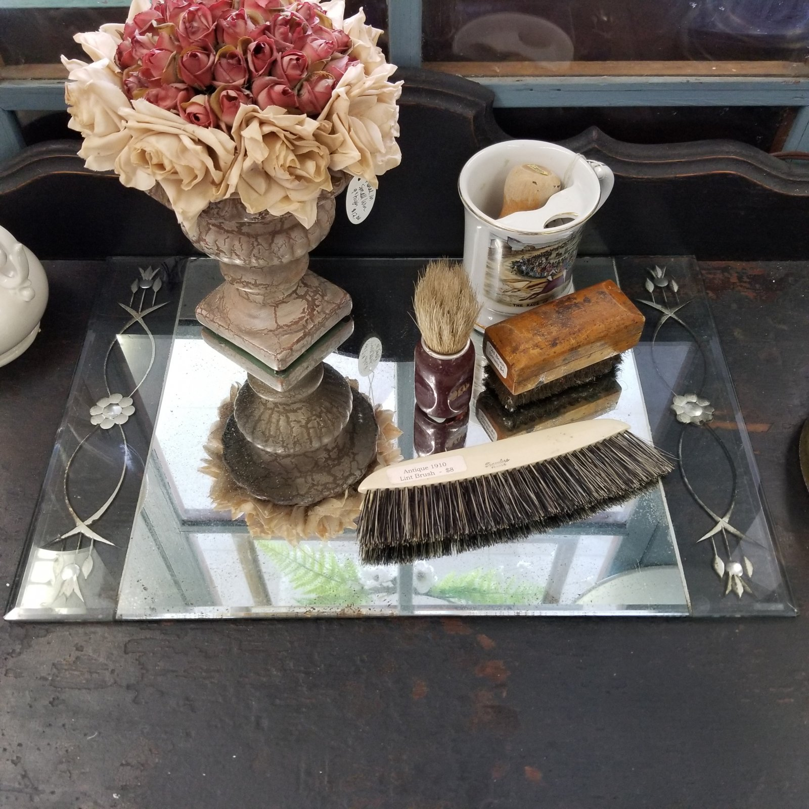 Etched Mirror Tray 11x17
