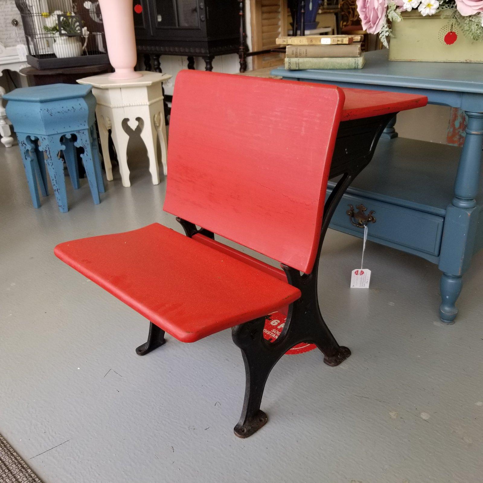 Red Childs School Desk