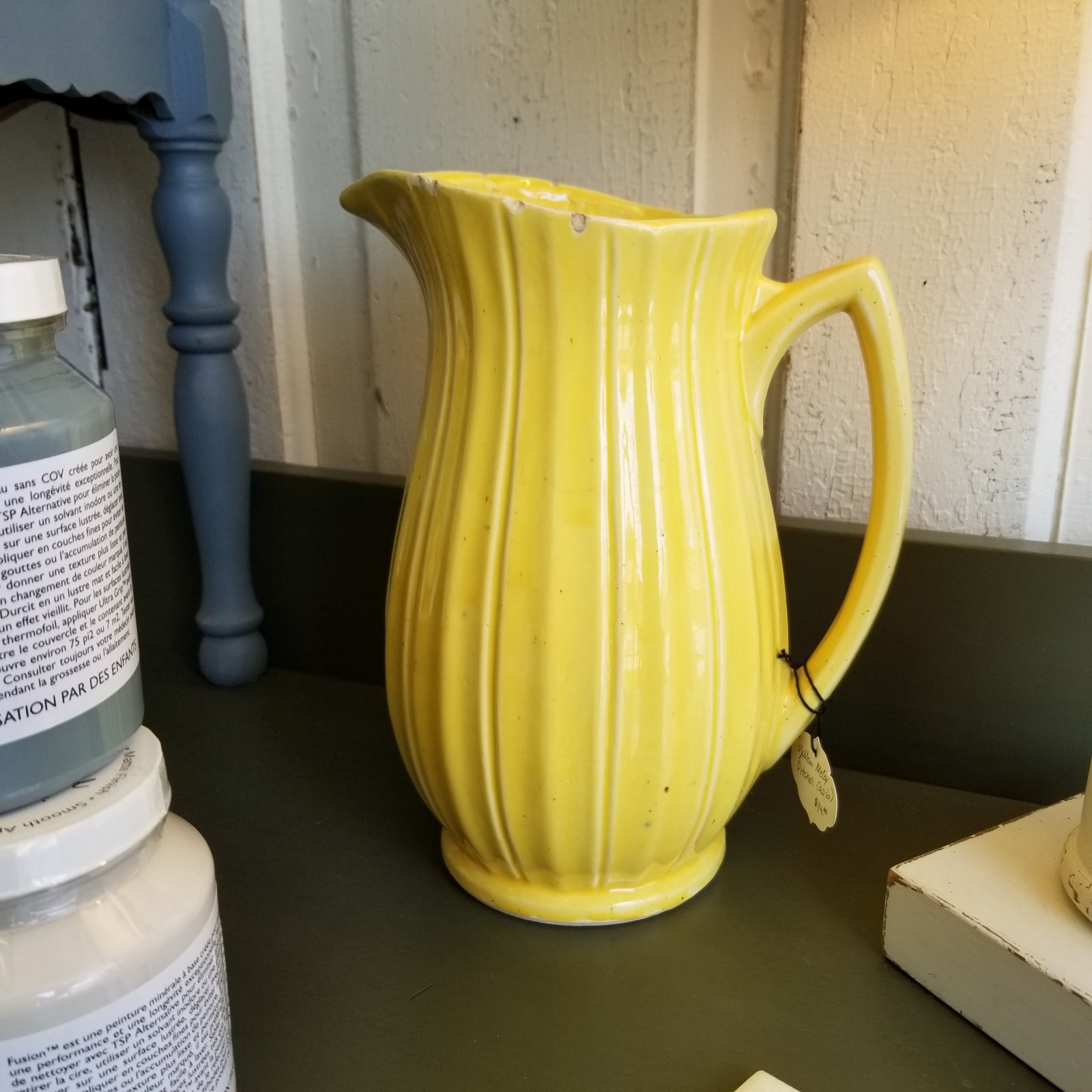 Yellow McCoy Pitcher (perfect for sunflowers!)