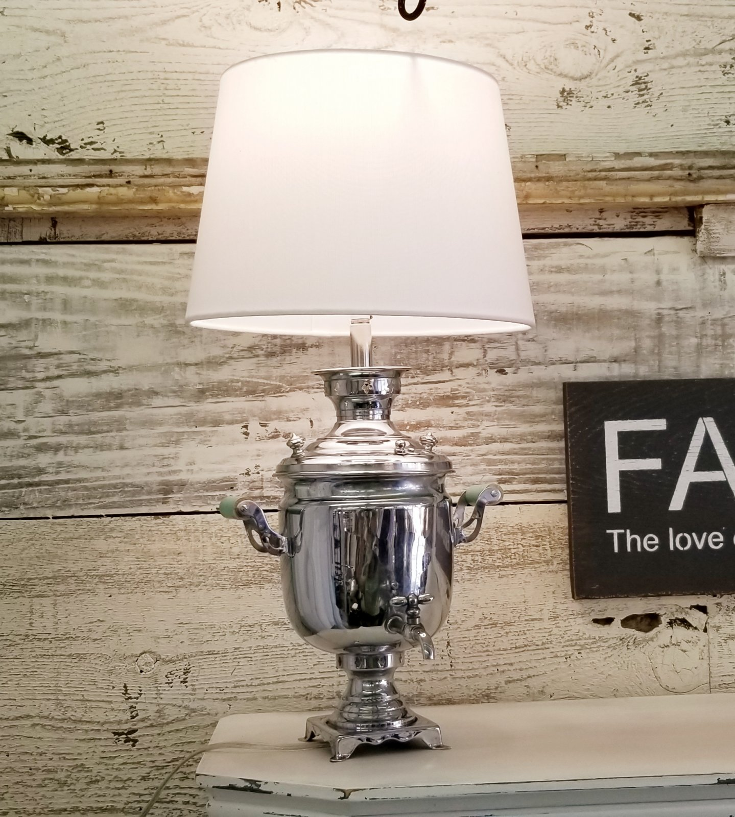 Coffee Pot Lamp #5 New Shade