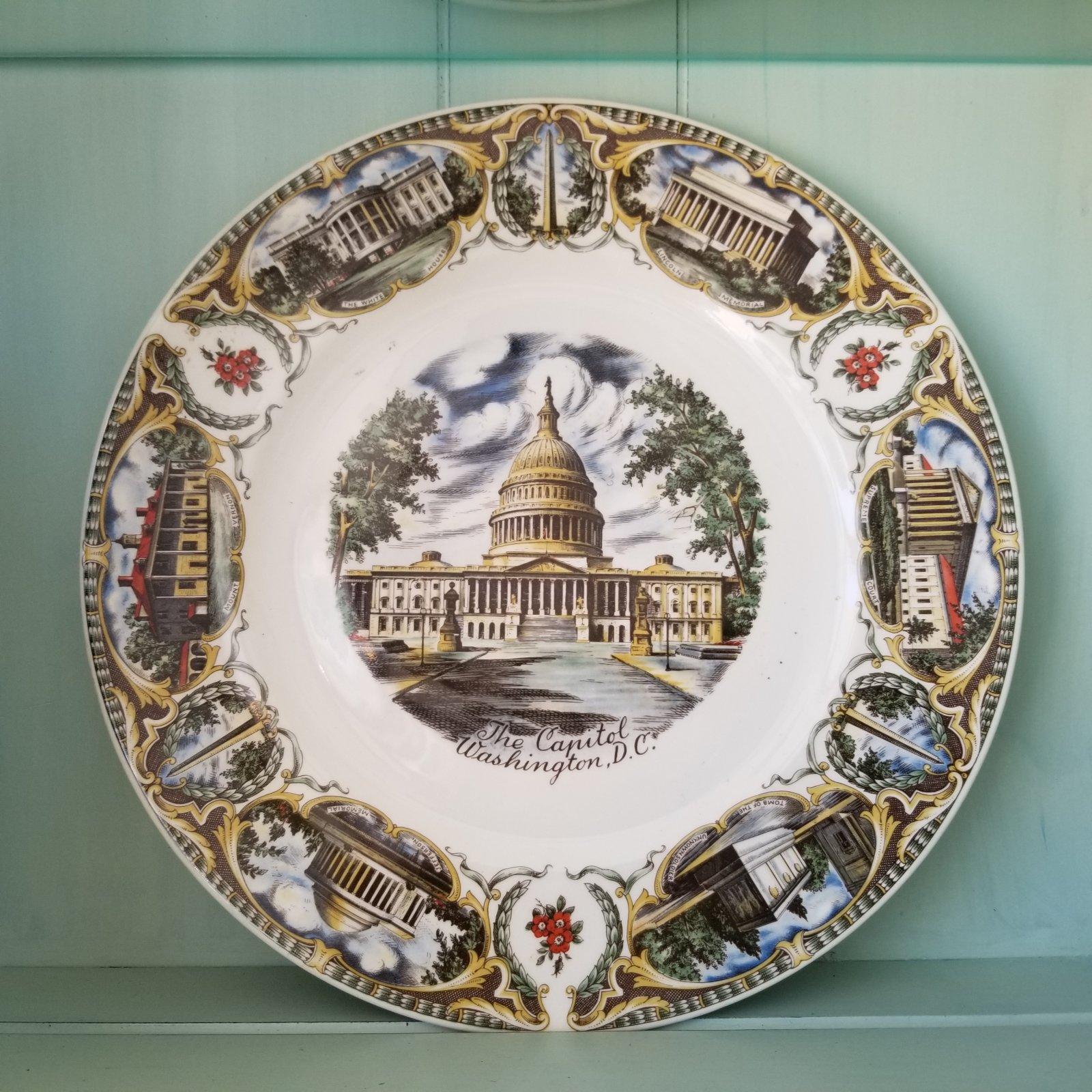 The Capitol Washington DC Plate 10 3/4