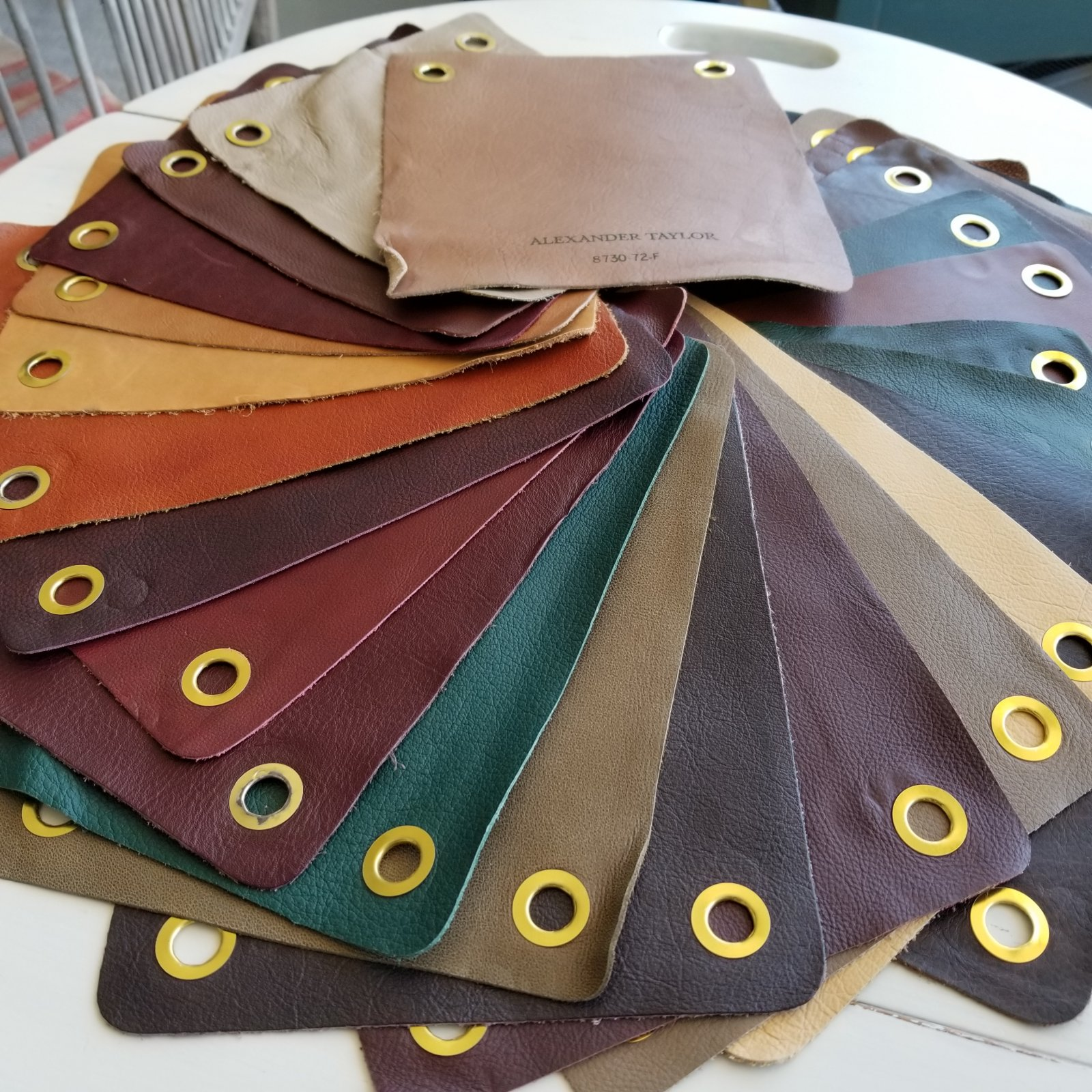 Leather samples 8x10