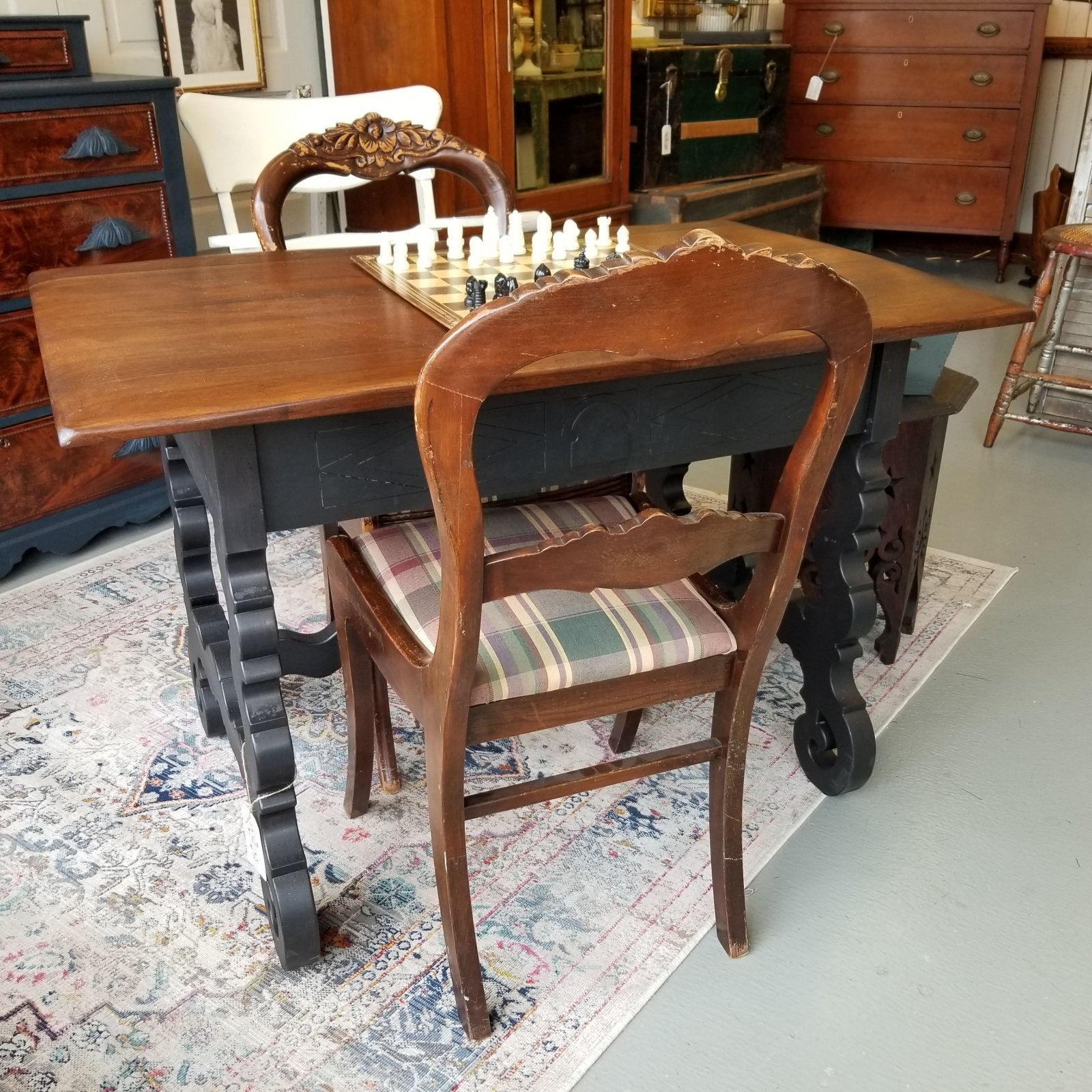 Black Wood Game Table