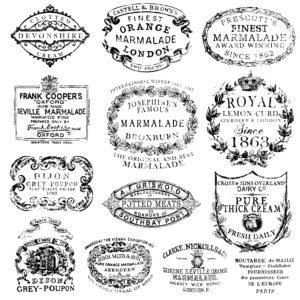 Crockery 12x12 Decor Stamp