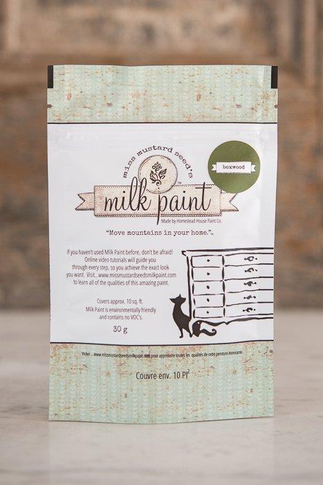 Boxwood Miss Mustard Seed Milk Paint Tester 30g