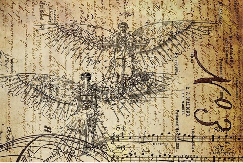Dreams of Flight 1 20x30 Roycycled Decoupage Paper