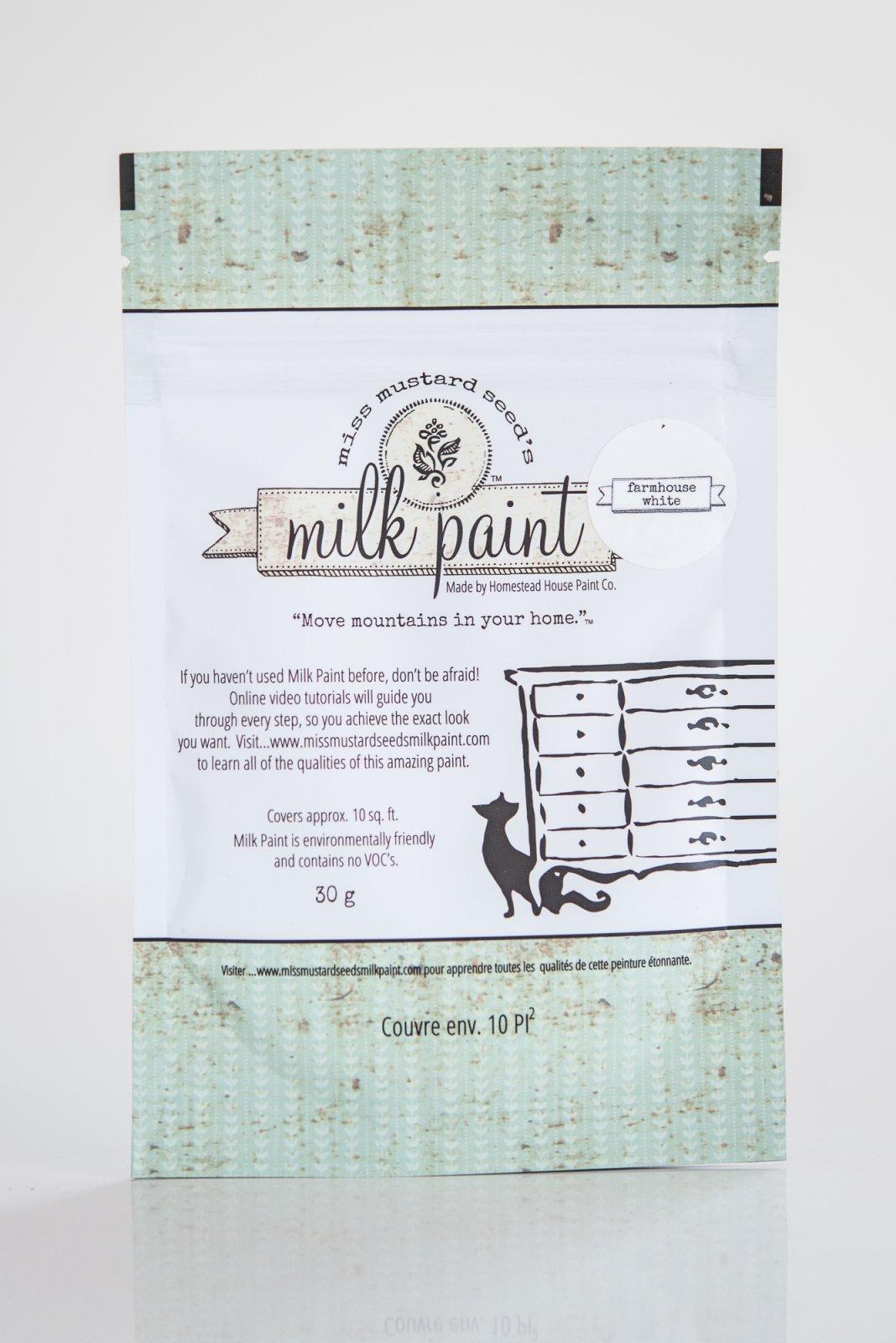 Farmhouse White Miss Mustard Seed Milk Paint Tester 30g