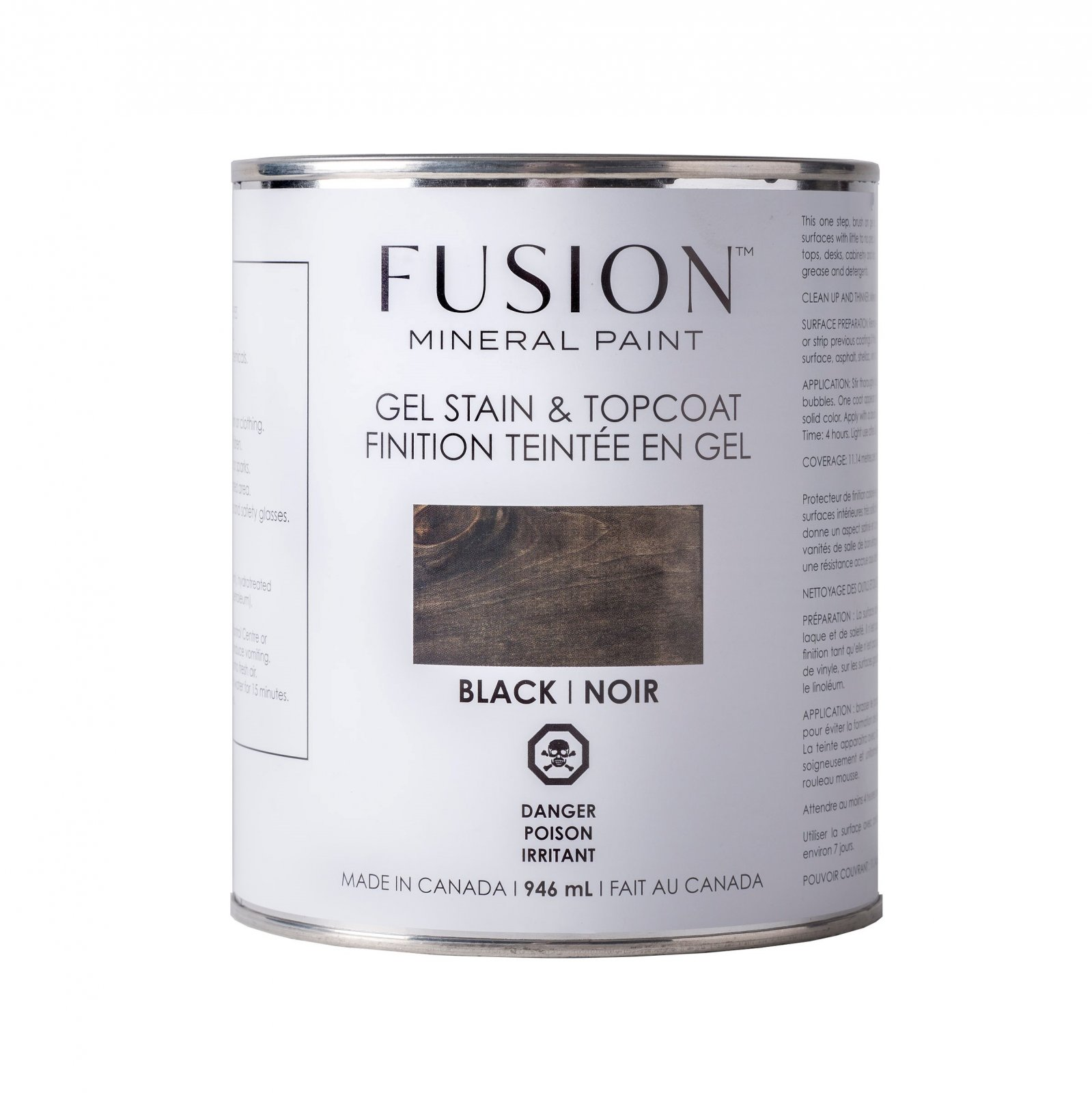 Gel Stain & Topcoat Black Fusion Mineral Paint
