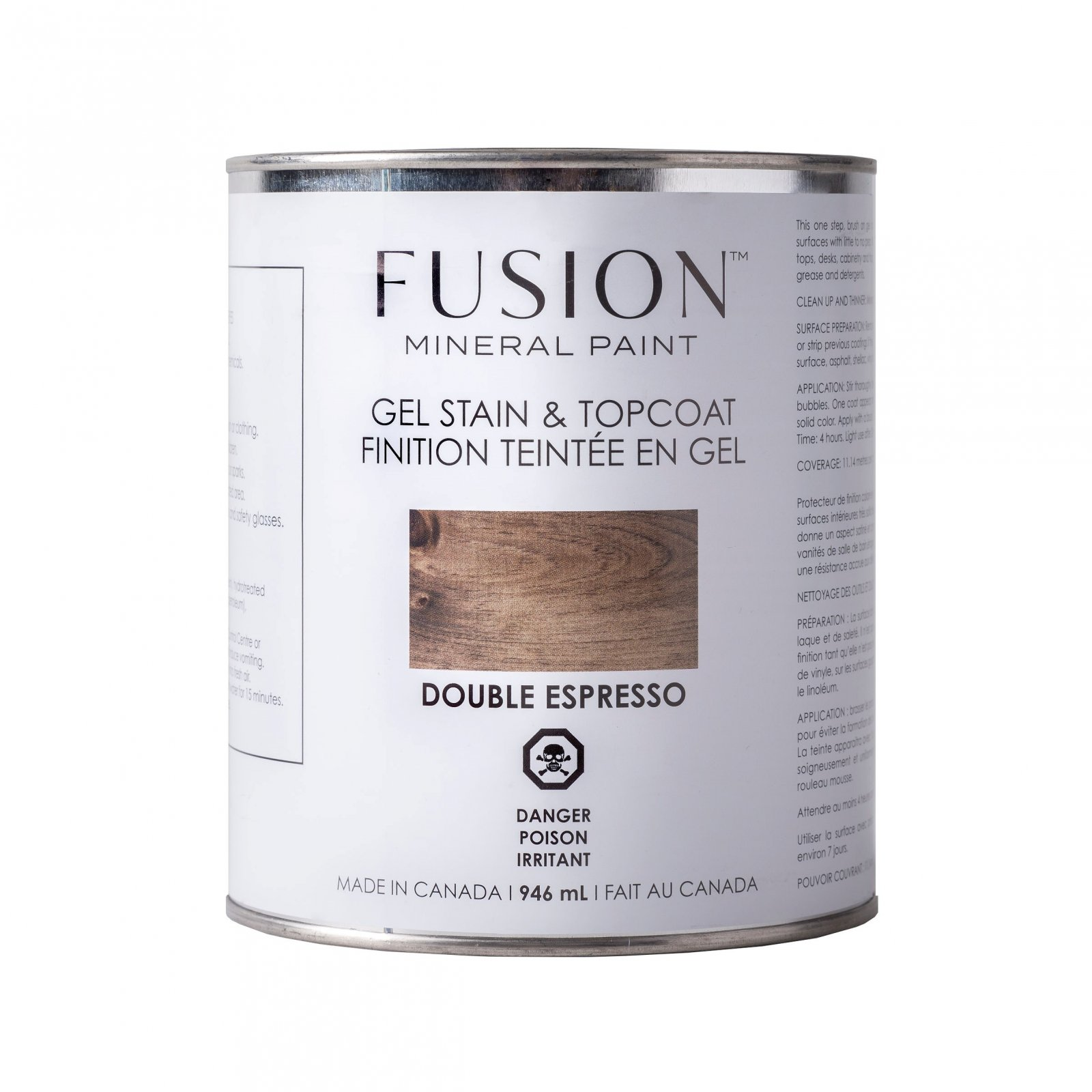 Gel Stain & Topcoat Double Espresso Fusion Mineral Paint