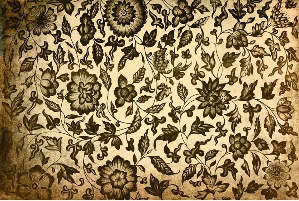 Grungy Floral 20x30 Roycycled Decoupage Paper