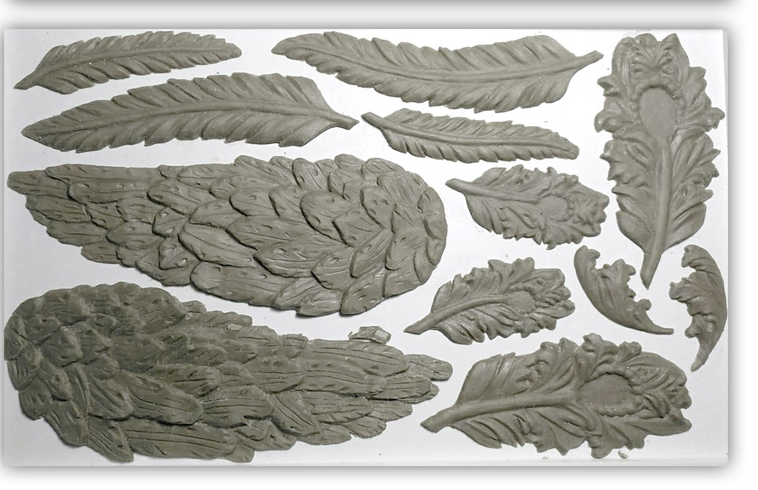 Wings and Feathers 6x10 IOD Decor Moulds