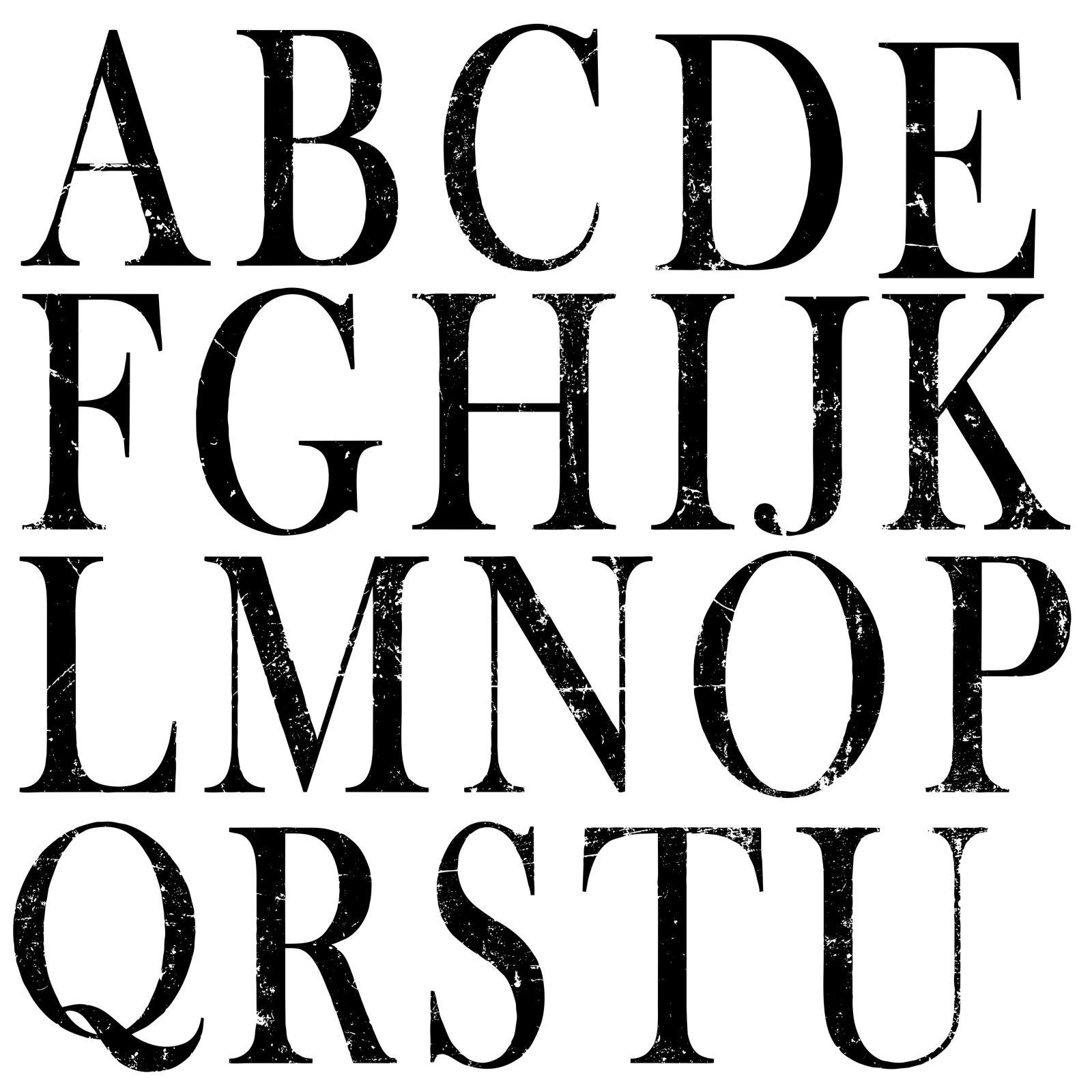 Typesetting 12x12 Decor Stamp