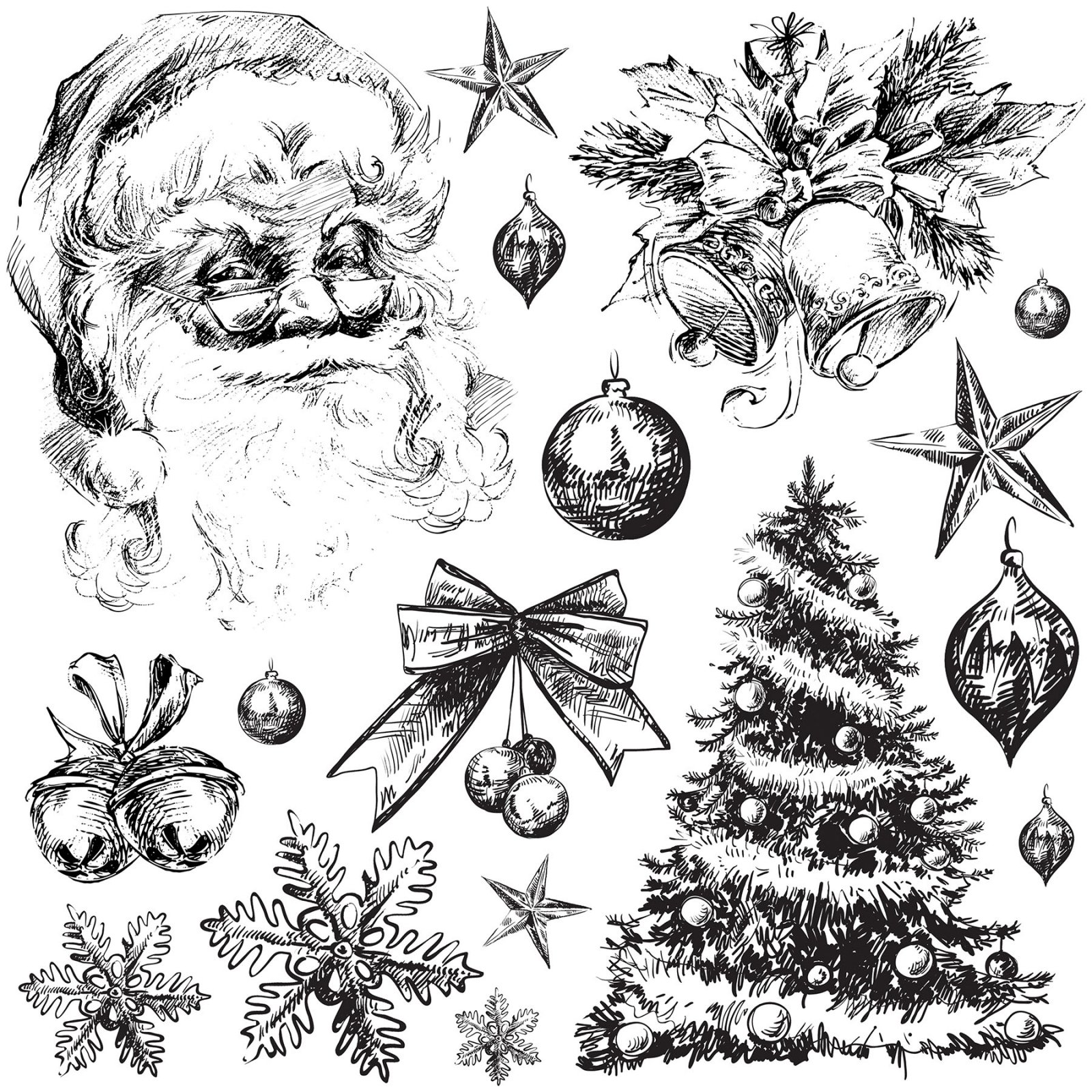 Holly Jolly 12x12 IOD Stamp