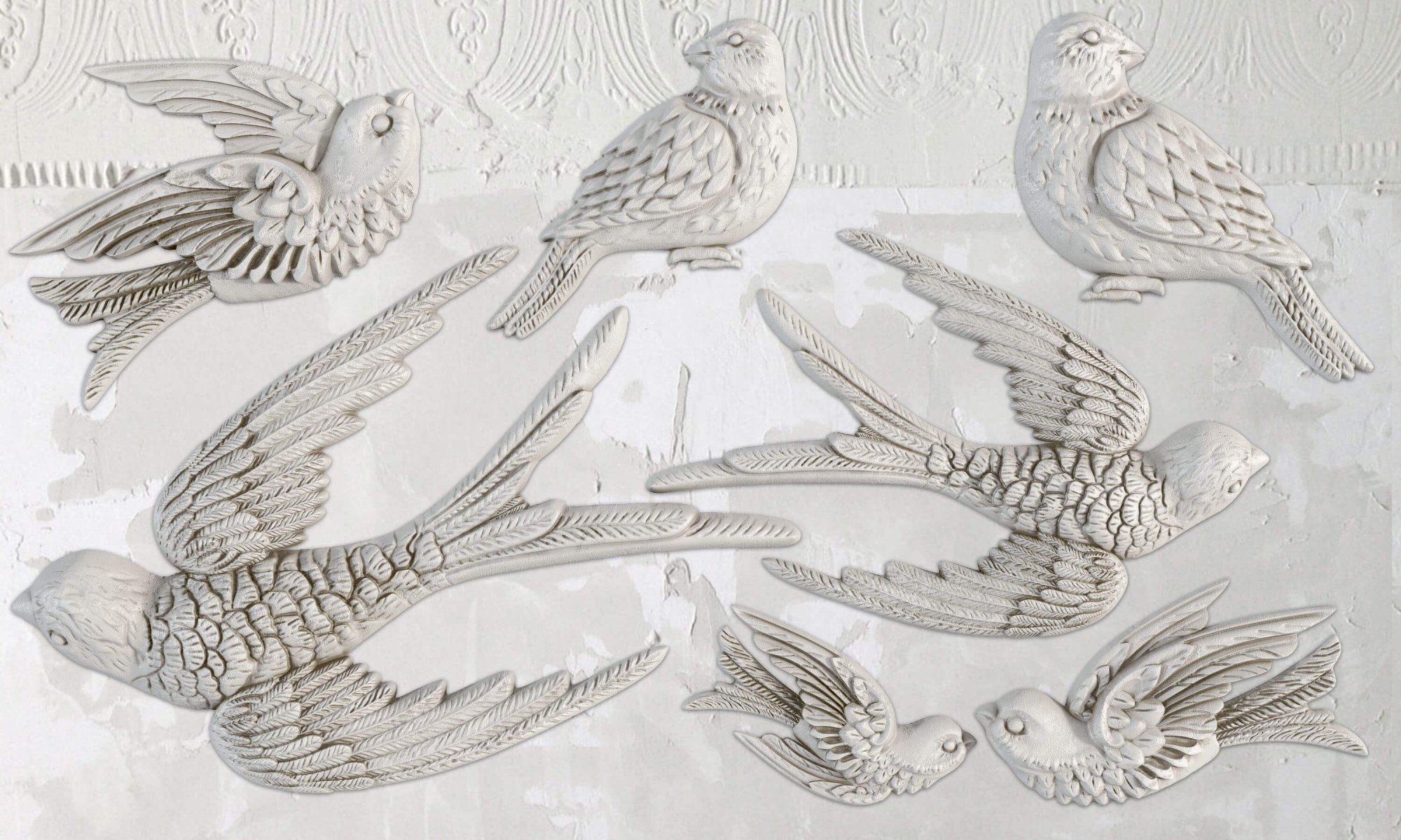 Birdsong 6x10 IOD Decor Moulds