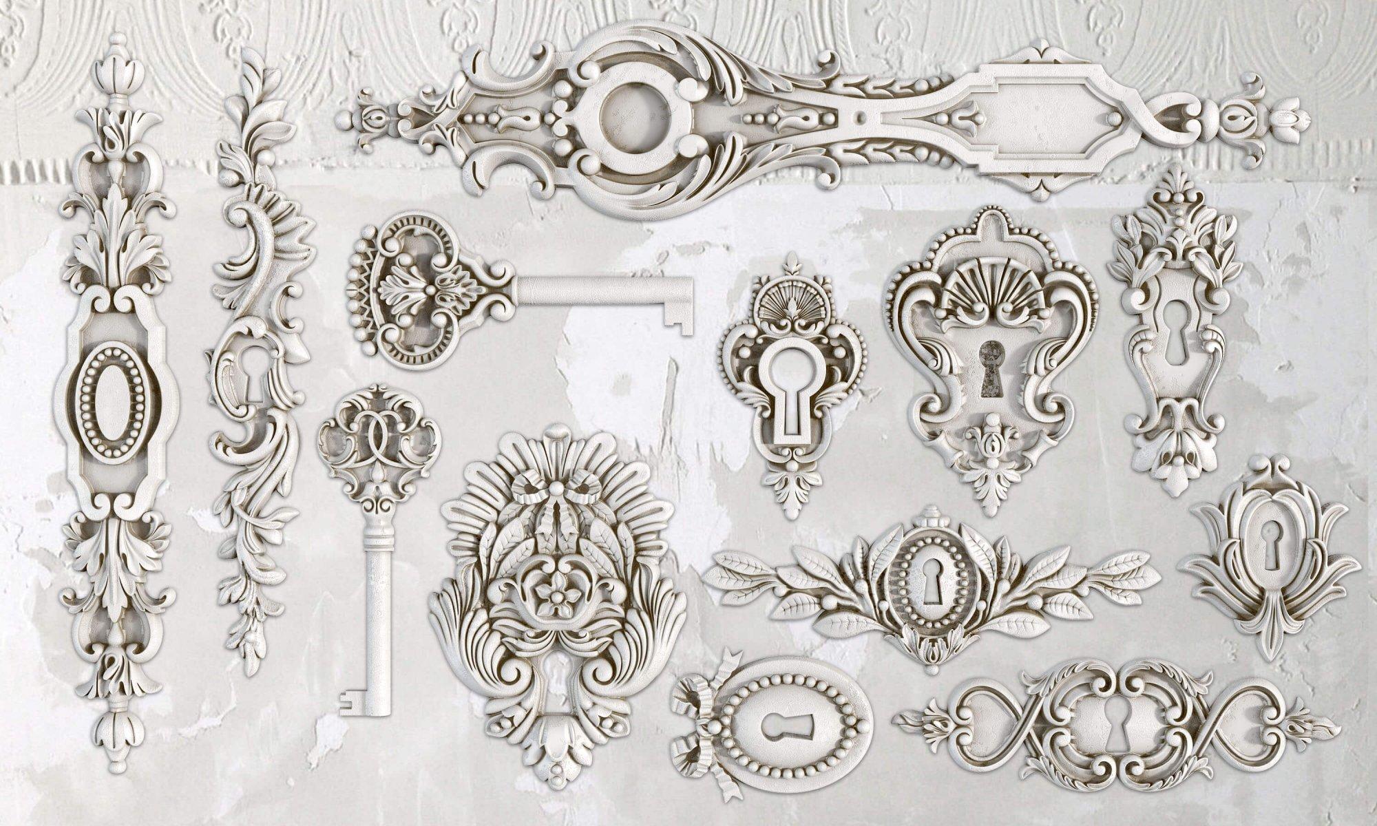 Lock & Key 6x10 IOD Decor Moulds