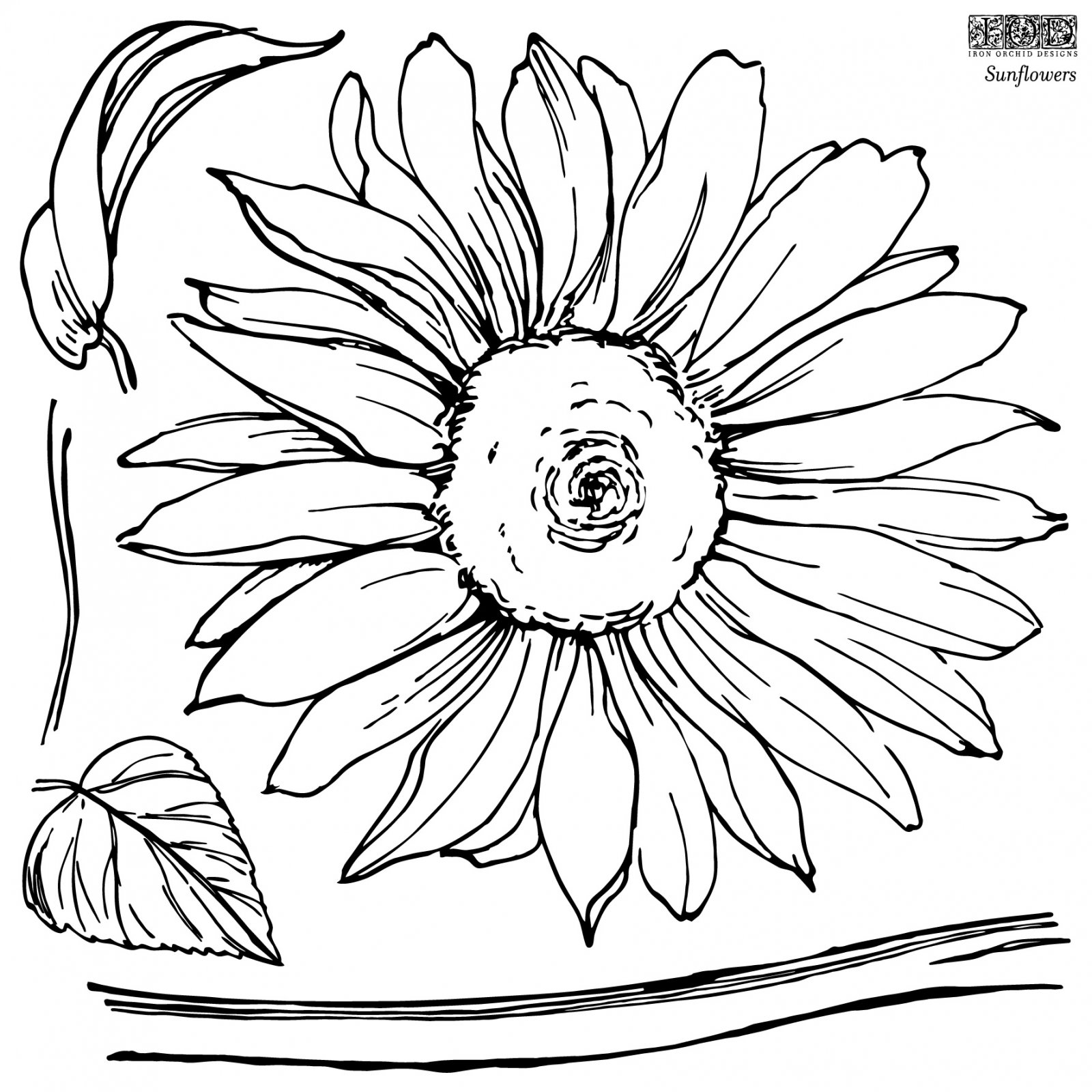 Sunflowers 12×12 IOD Stamp