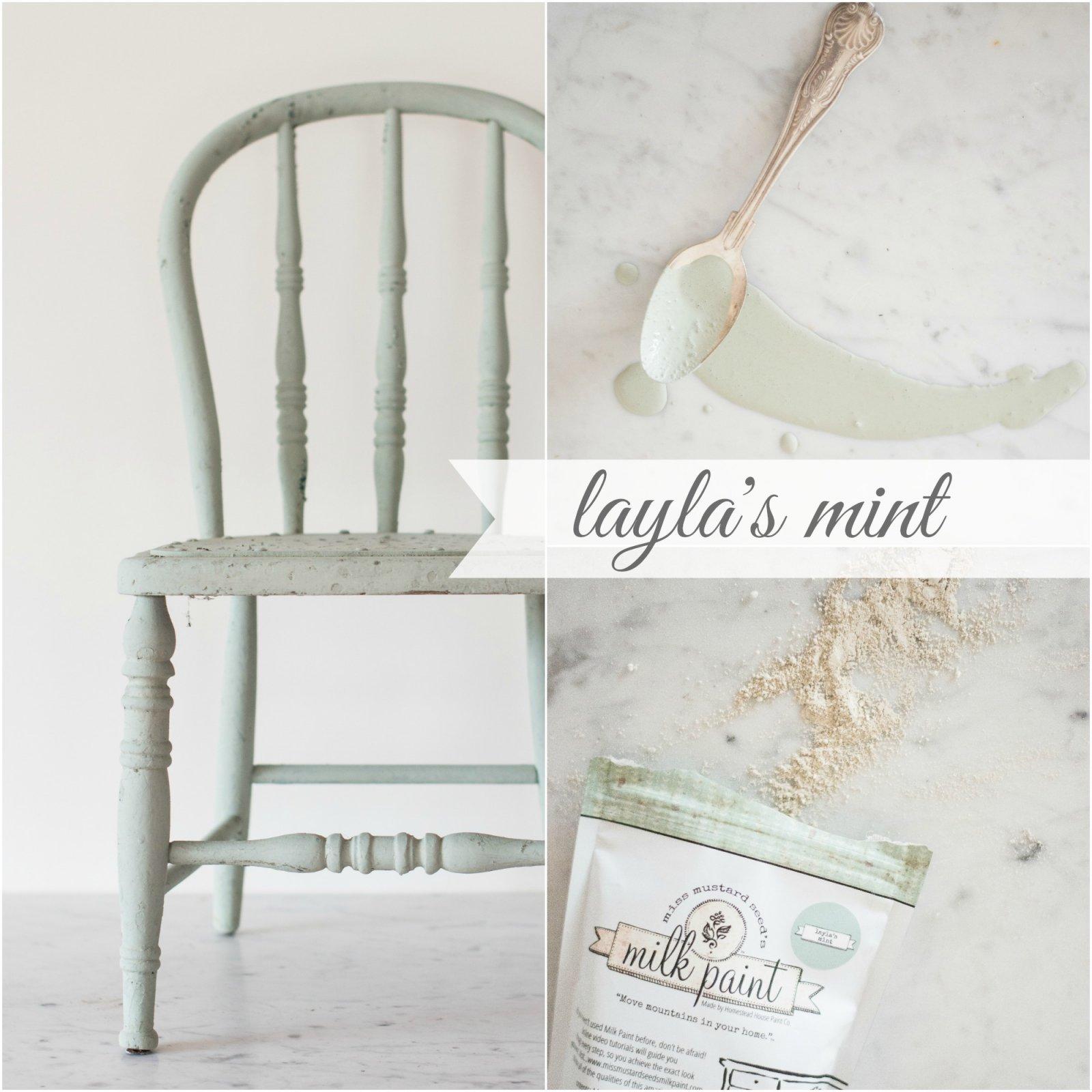 Layla's Mint Miss Mustard Seed Milk Paint Tester 30g