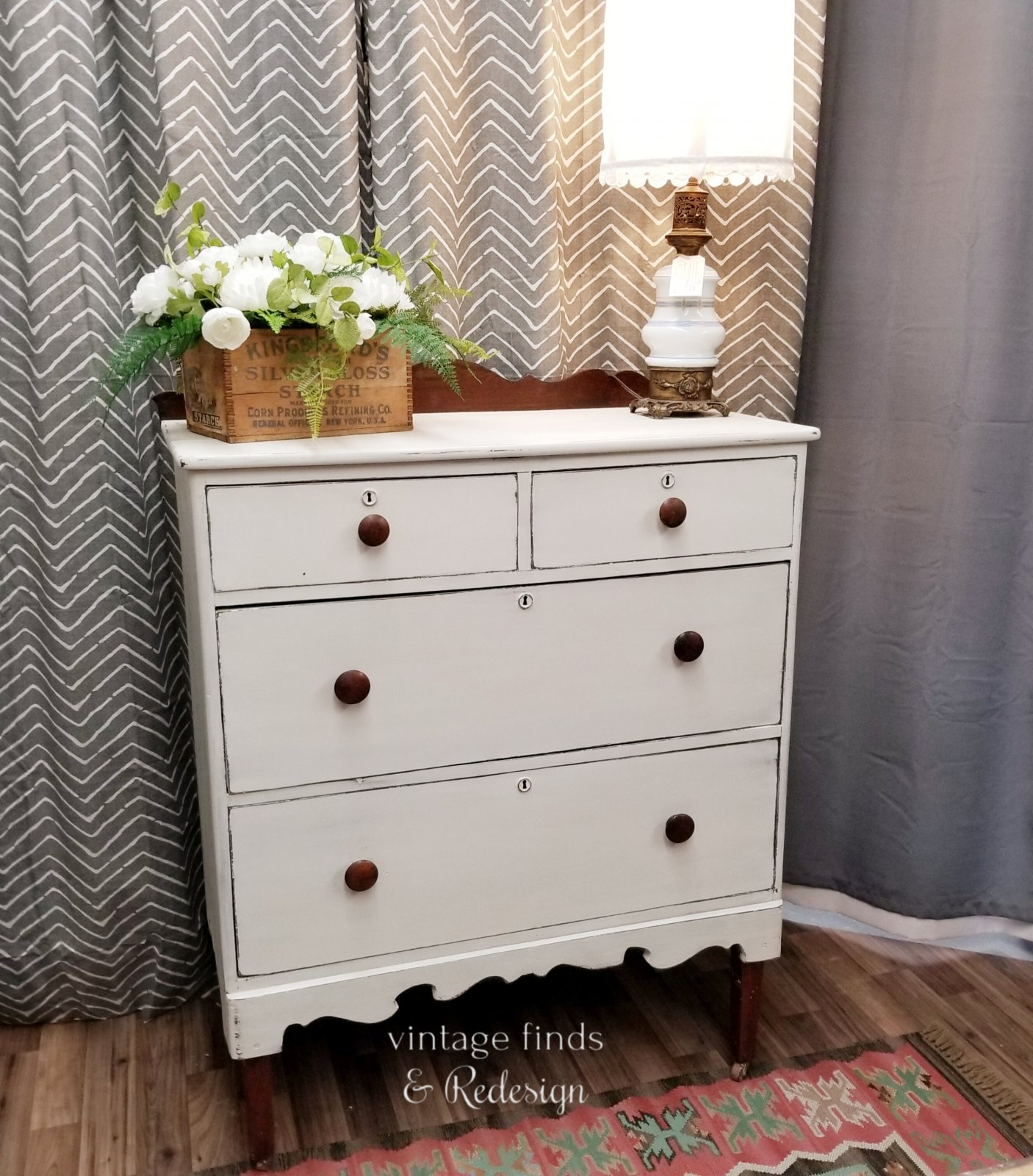 Antique Chest of Drawers Farmhouse White