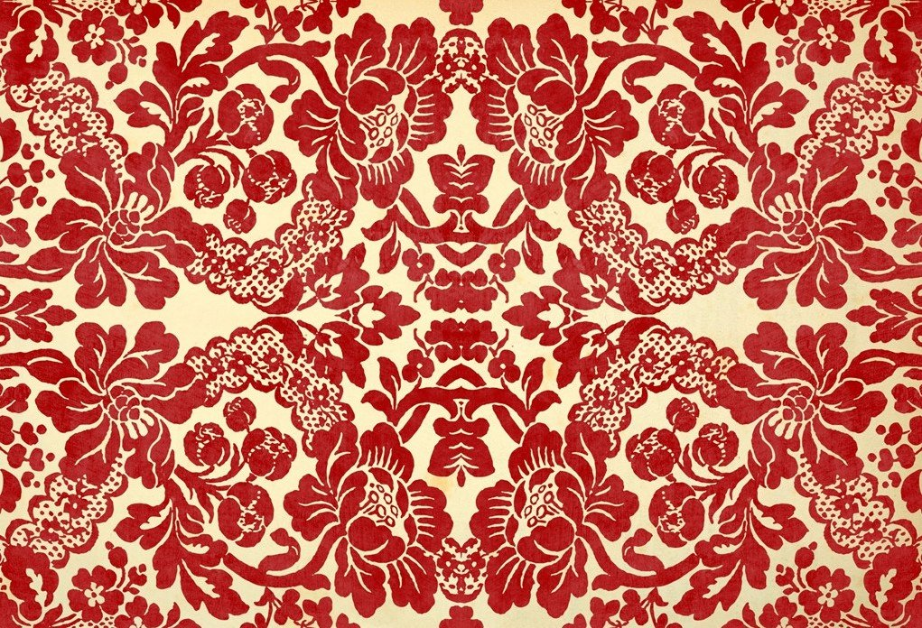 Red Damask 20x30 Roycycled Decoupage Paper Retired