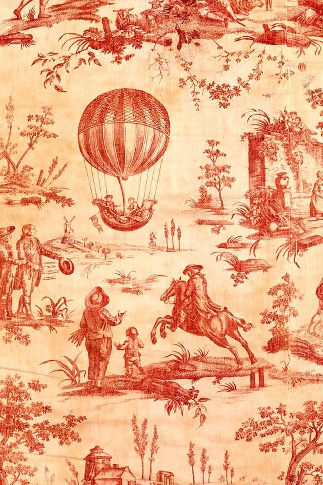 Red Toile 20x30 Roycycled Decoupage Paper