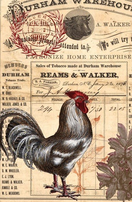 Red Rooster 20x30 Roycycled Decoupage Paper