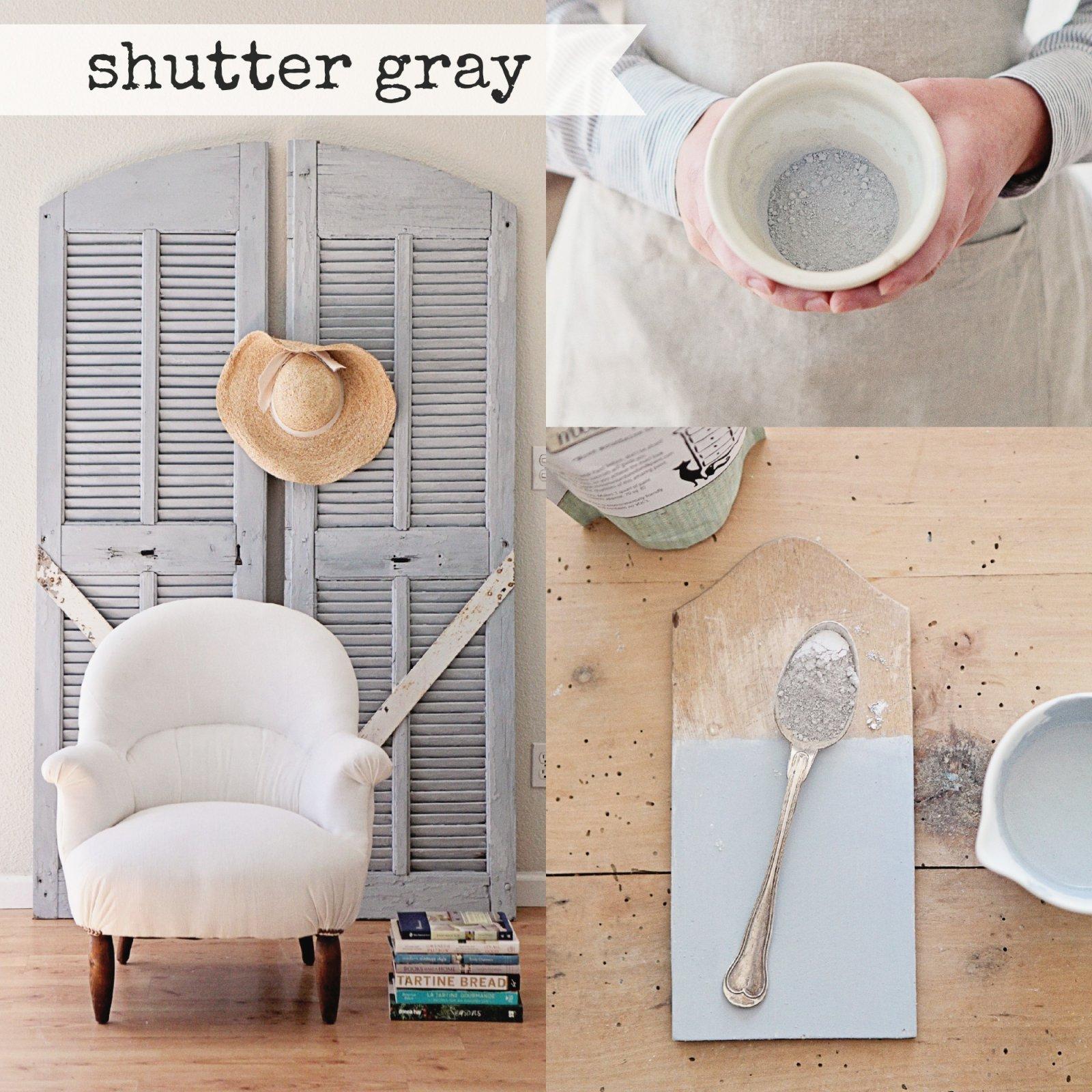 Shutter Gray Miss Mustard Seed Milk Paint 2 Qt