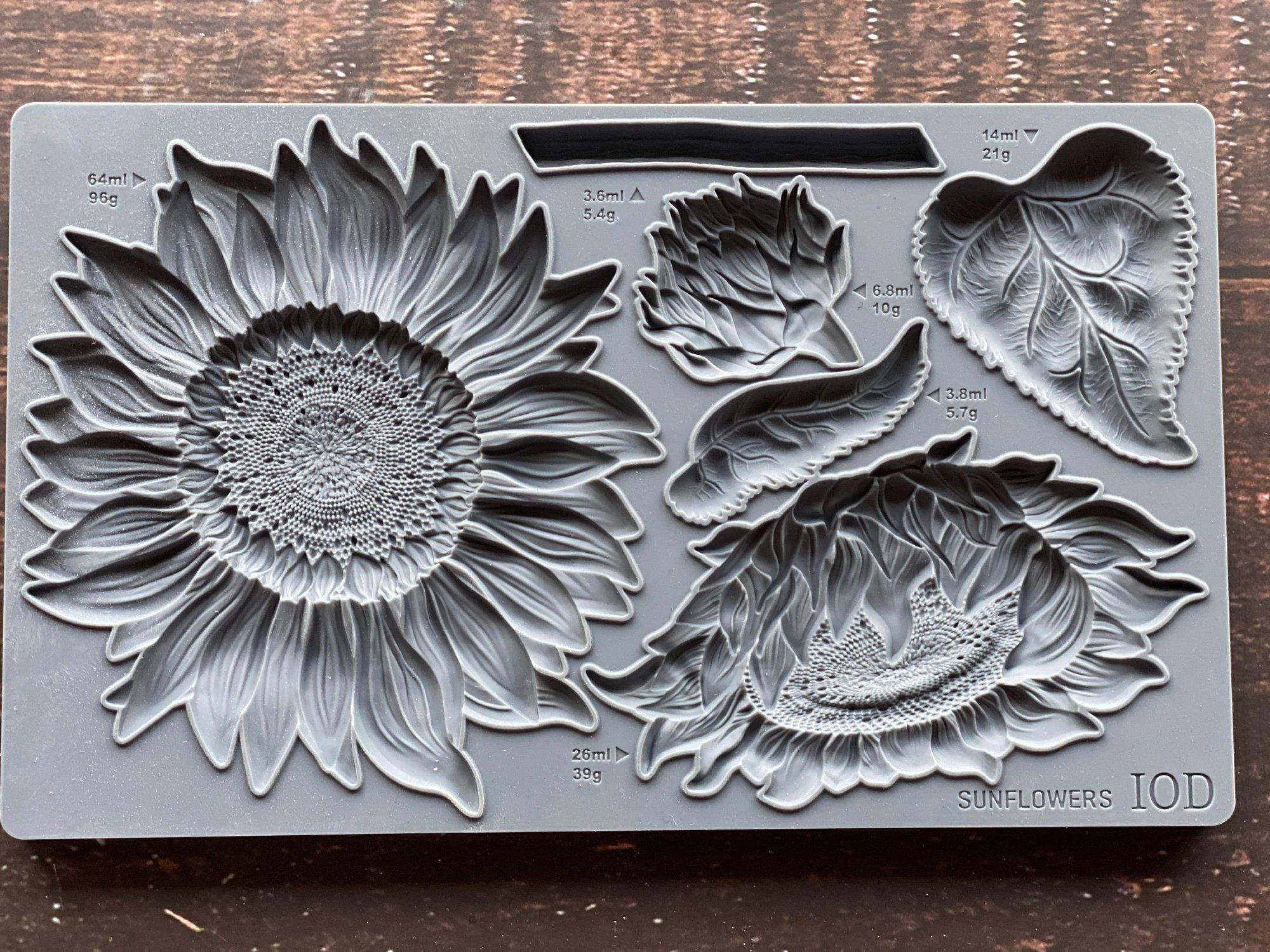 Sunflowers 6x10 IOD Decor Moulds