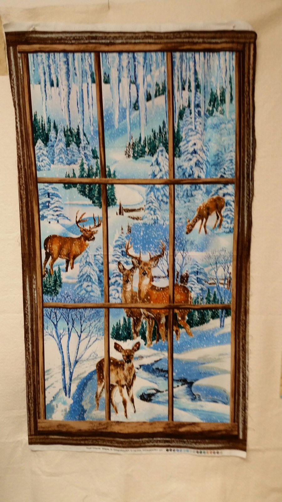 Deer in Window Panel