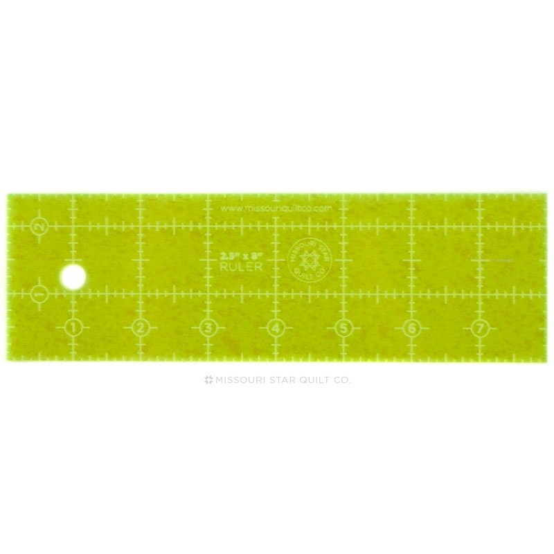 2.5 x 8 ruler