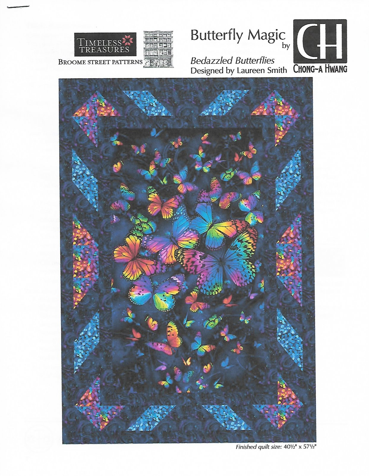 Bedazzled Butterfly  Quilt Kit