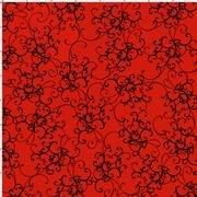Loralie Elegant Scroll Red/Black