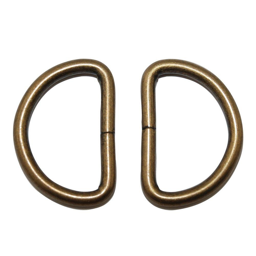 1-1/2 gold D Ring