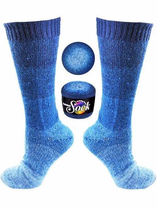 Painted Sock #101 Aruba Blues
