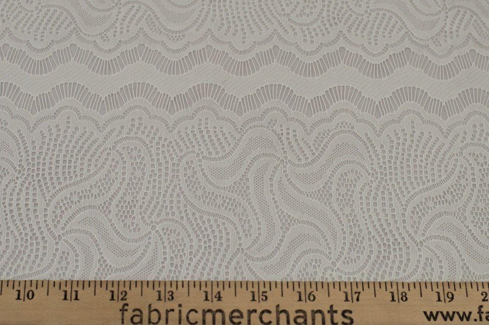 Stretch Lace - Ivory Chantilly