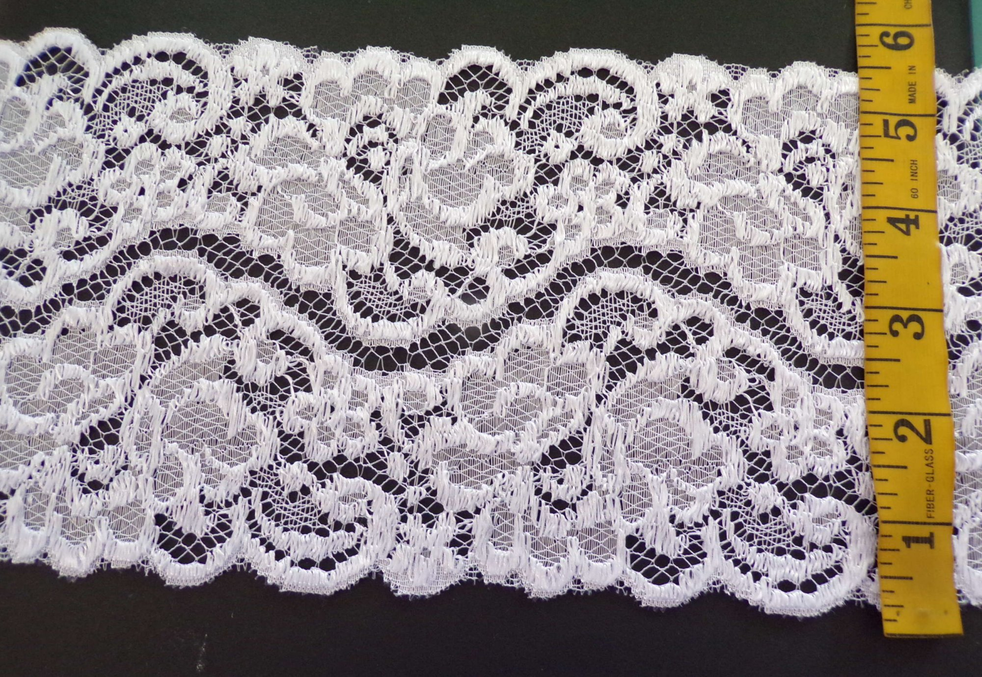 5.5 Galloon White Rigid Lace - 16110