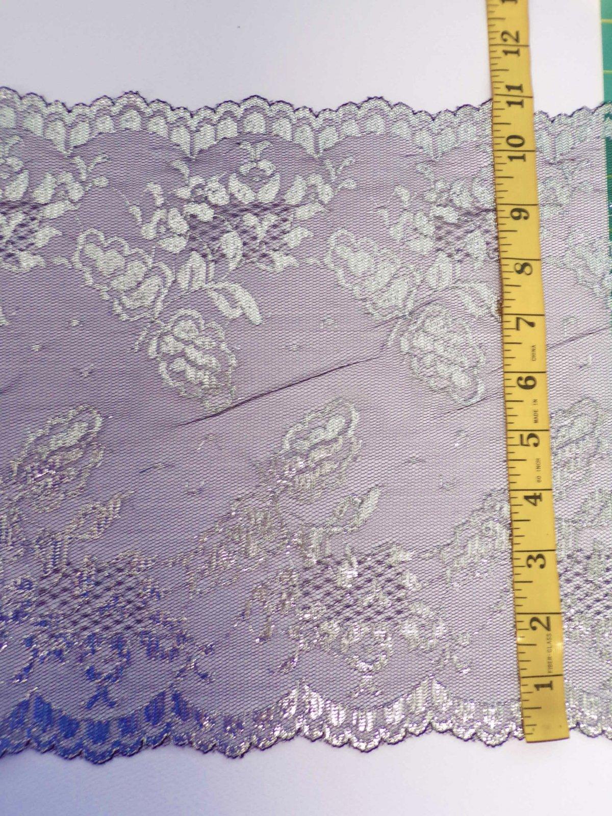 11 5/8 Galloon Black/Silver Rigid Lace - 2907-BS