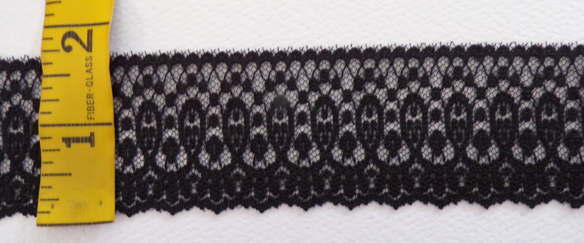 1 3/4 Black Rigid Lace  - 654535-30