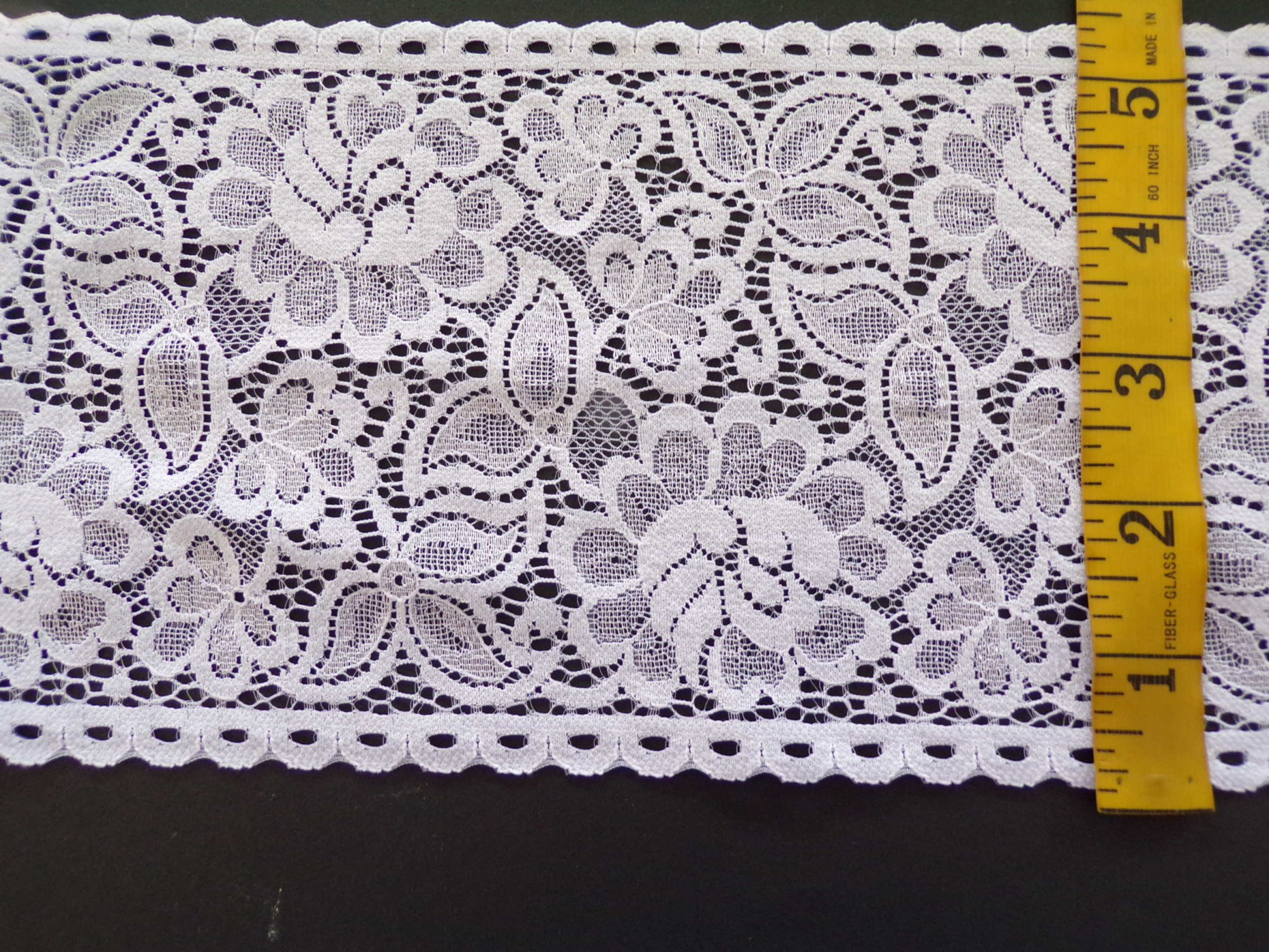 5.5 White Rigid Lace - 9148