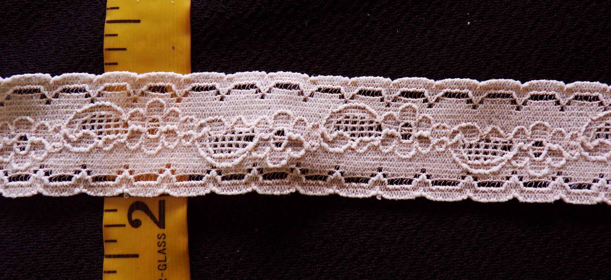 1 1/4 Beige Stretch lace (BGSL125)