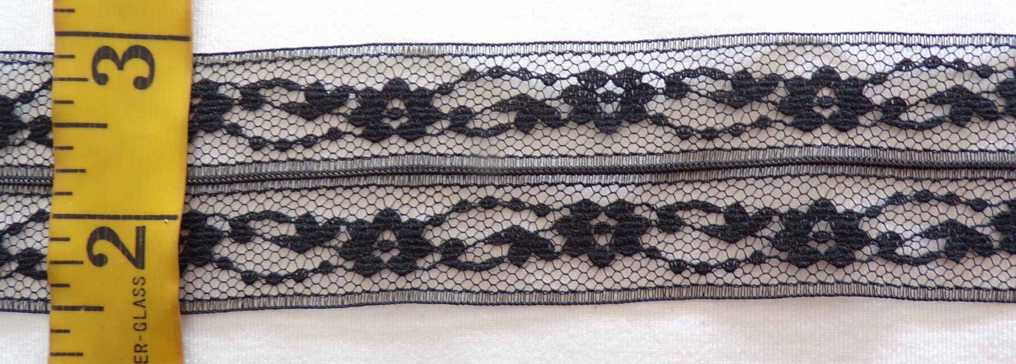 1 3/4 Black Rigid Lace