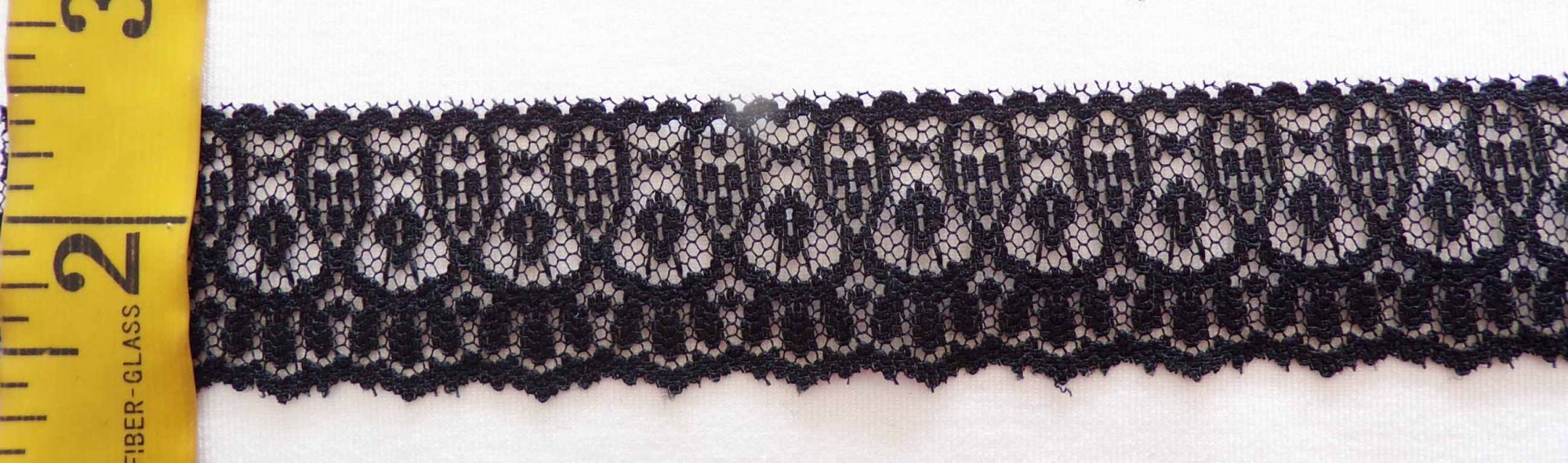 1 1/4 Black Rigid Lace