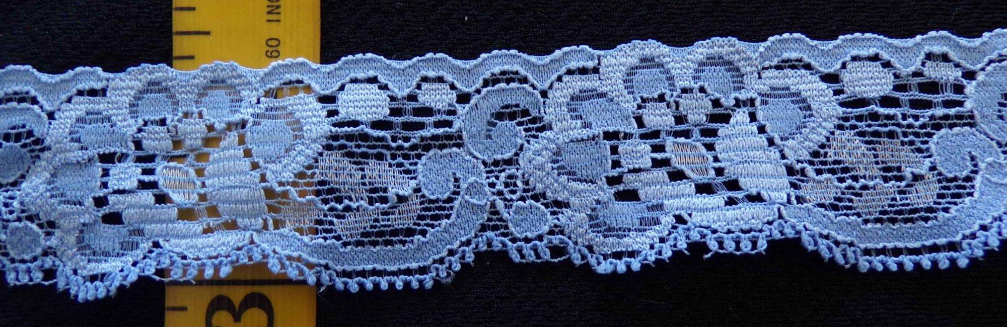 1 1/8 Blue stretch lace (BLSL104)