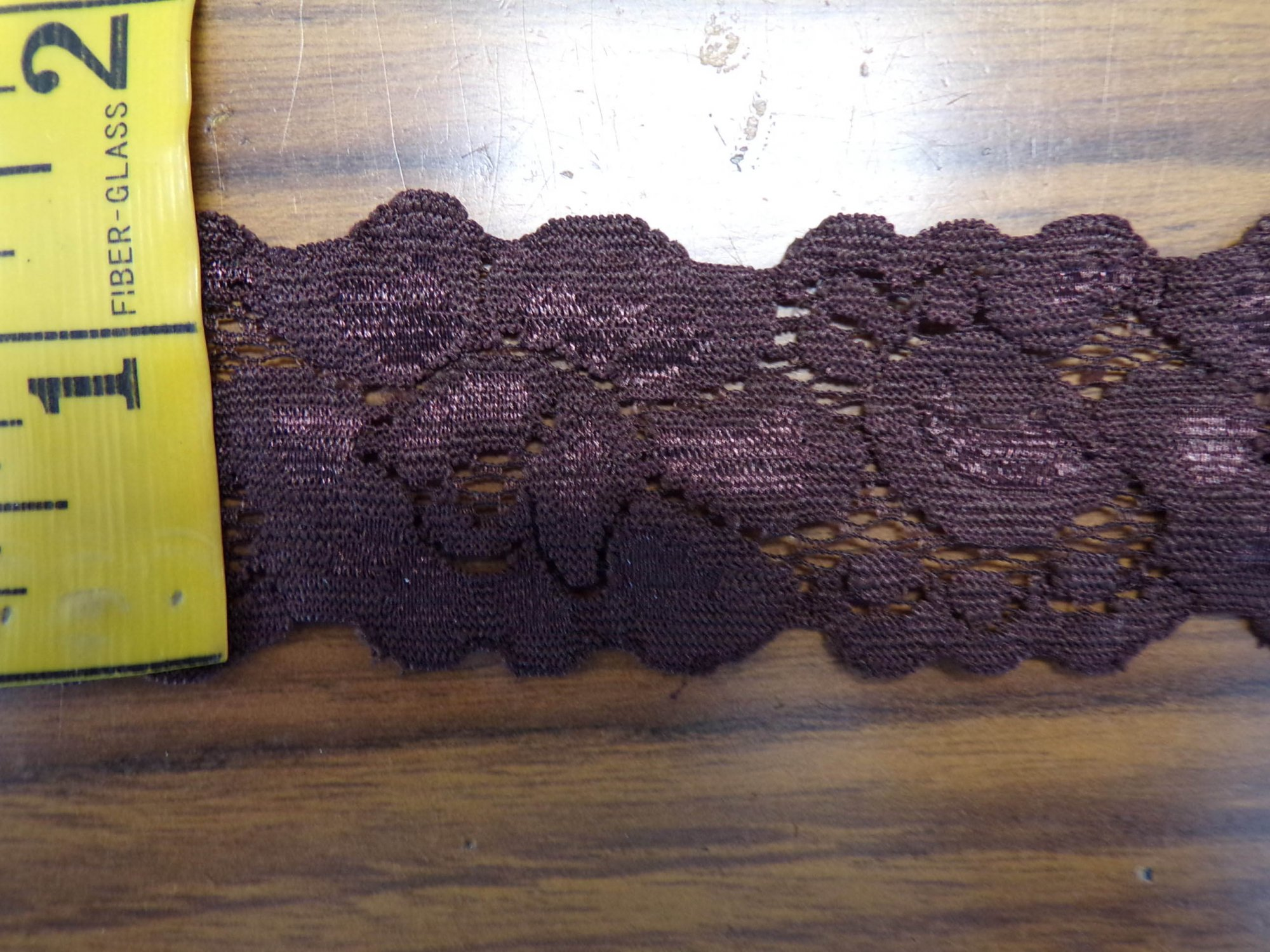 1 5/8 Brown stretch lace (BRSL332)