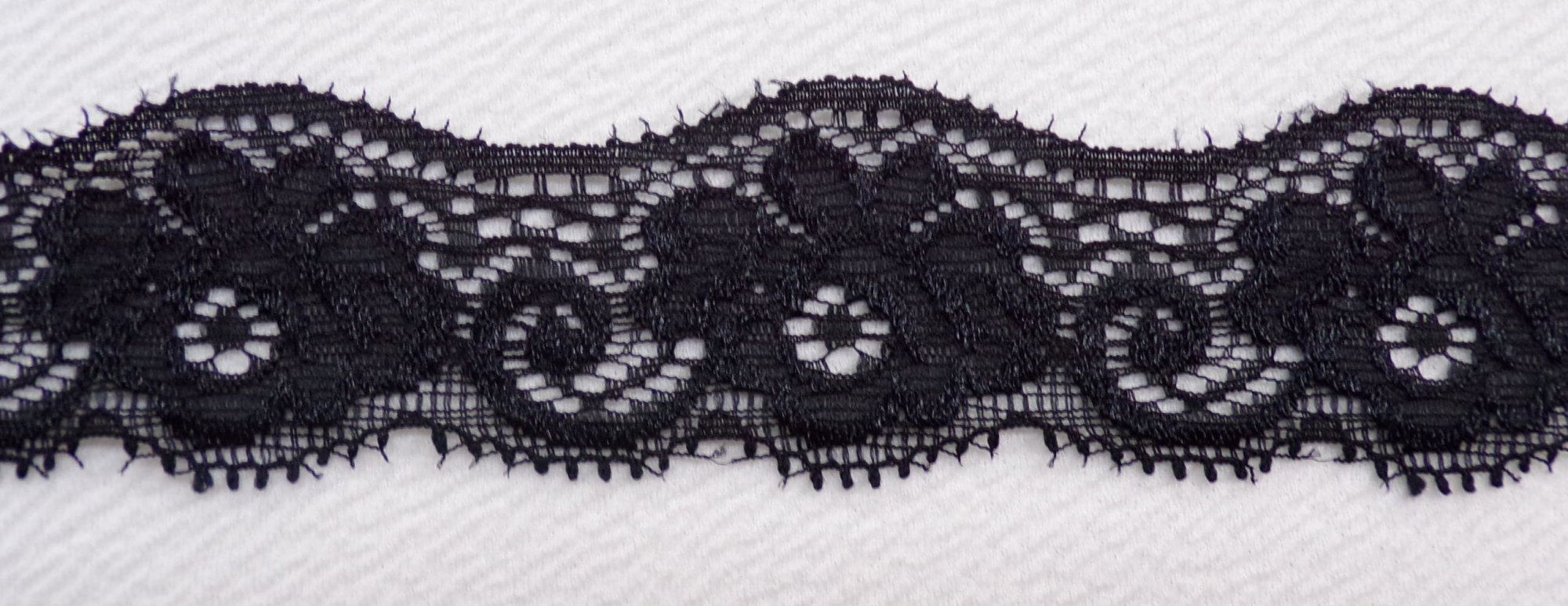 1 1/2in Black stretch lace (BSL346)